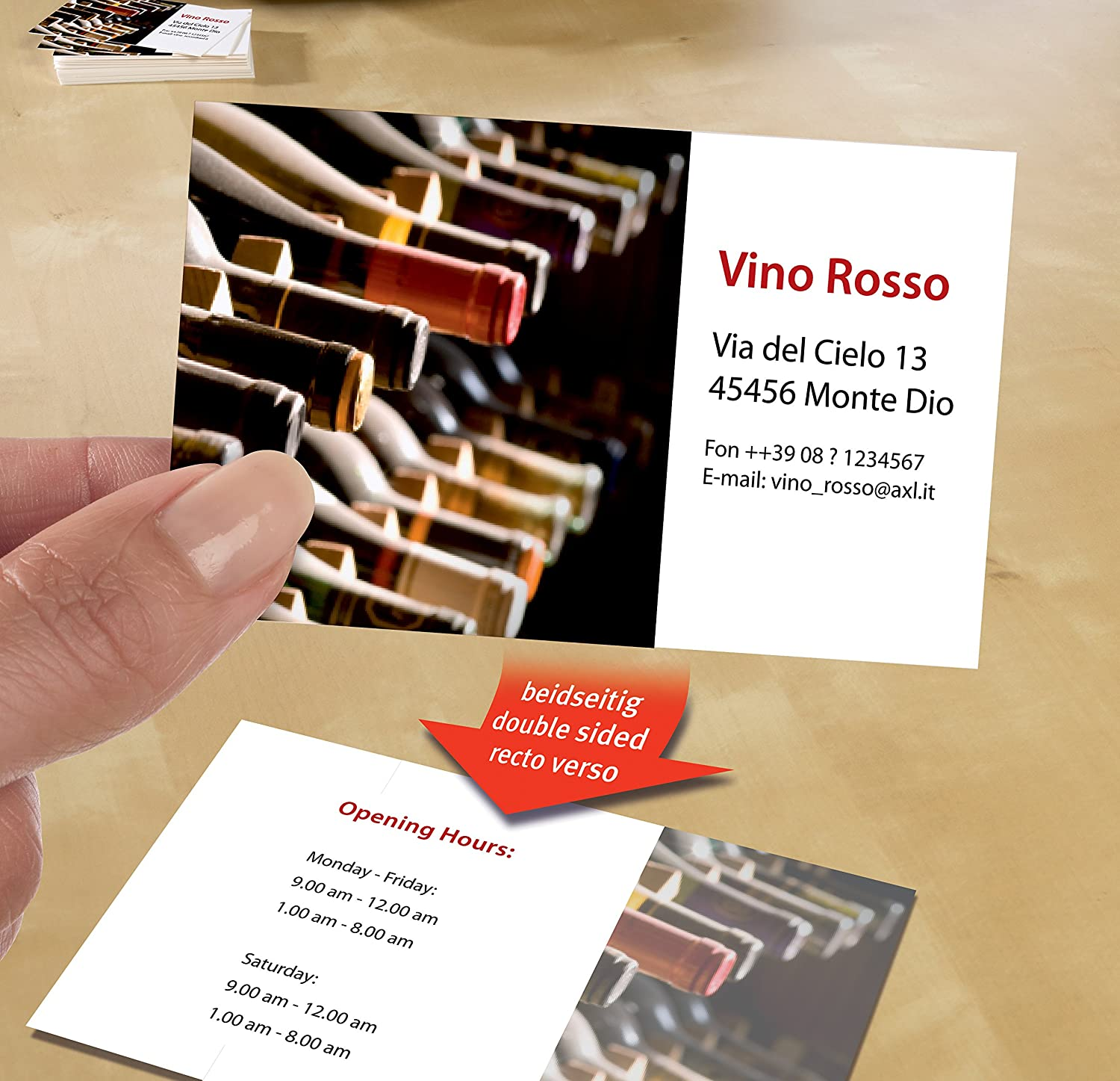 business card Avery C32096-10 80pc s s 85 mm, 54 mm, 10 sheets, 80 pc business cards