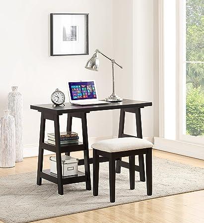 Office work desks Woman Office Image Unavailable Amazoncom Amazoncom Poundex B07b8kk4yg Home Office Desks Black Kitchen
