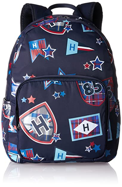 Tommy Hilfiger - Kids Th Patch Backpack M, Mochilas Niños, Blau (Printed Patch