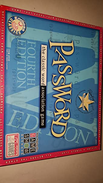 Password; The Classic Word Association Game; 4th Edition by Endless Classics: Amazon.es: Juguetes y juegos