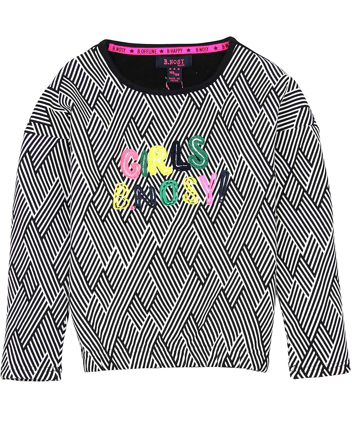 B.Nosy Girls Sweatshirt in Zigzag Print Sizes 6-14