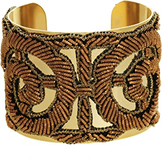 product image for a. v. max Metallic Rose Cuff in Copper and Gold