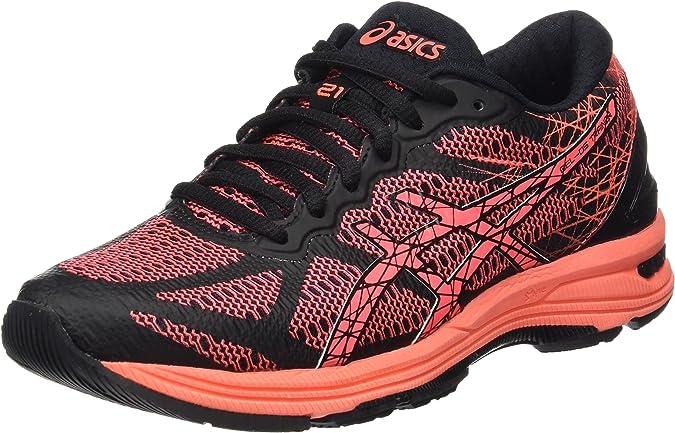ASICS Gel-DS Trainer 21, Zapatillas de Running para Mujer, Negro (Black/Flash Coral/Silver), 37 EU: Amazon.es: Zapatos y complementos