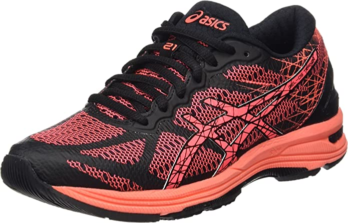 ASICS Gel-DS Trainer 21, Zapatillas de Running para Mujer, Negro (Black/Flash Coral/Silver), 37 EU: Amazon.es: Zapatos y complementos