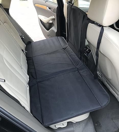 Lovely FurryFriends Backseat Pet Bridge   Dog Car Seat Extender   Platform Cover  Barrier Divider Restraint For