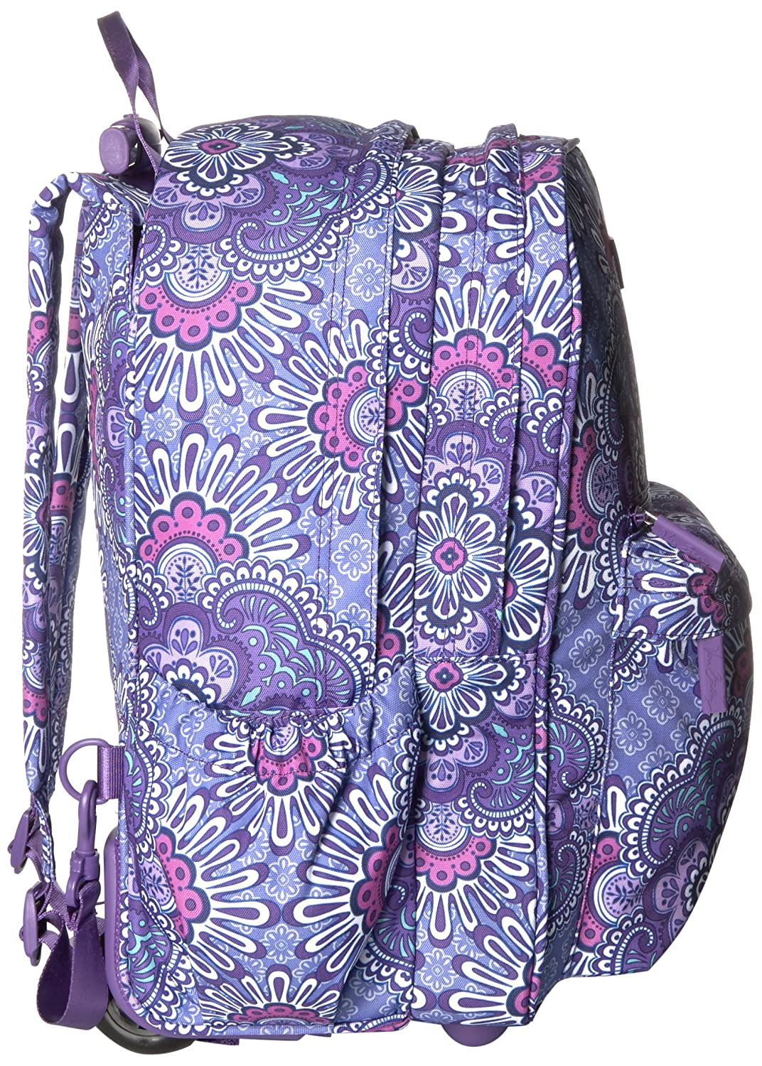 dd460300718d Com Vera Bradley Women S Lighten Up Rolling Backpack Lilac Tapestry Shoes