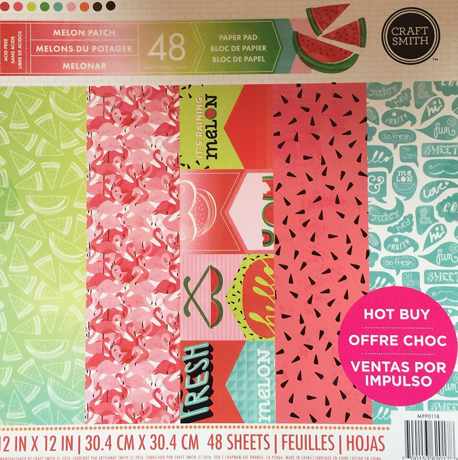 Craft Smith Paper Stack Melon Patch
