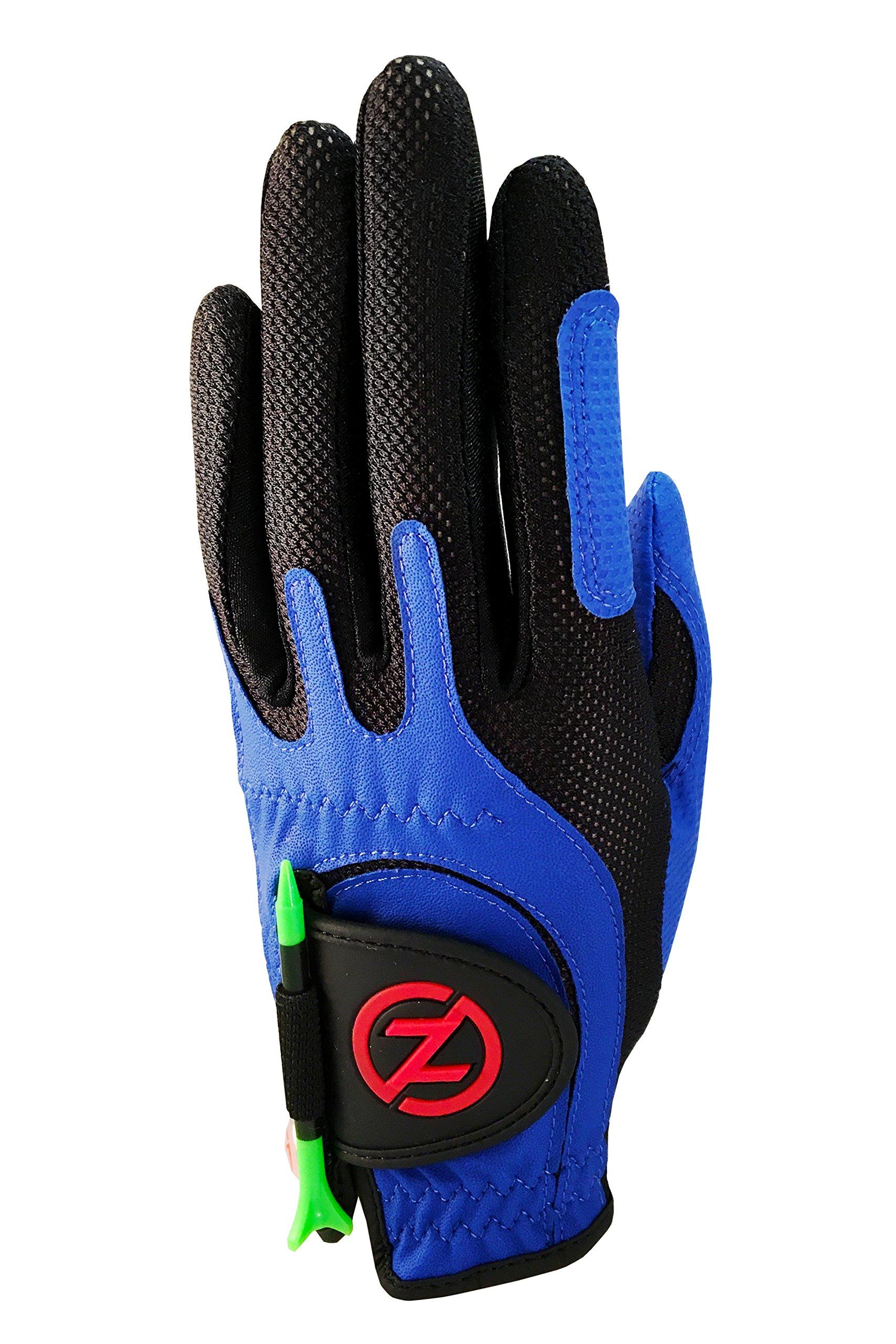 Zero Friction Junior Golf Gloves, Left Hand, One Size Golf, Blue