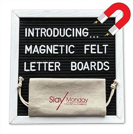 Amazon Com Magnetic Black Felt Letter Board With Magnet Frame