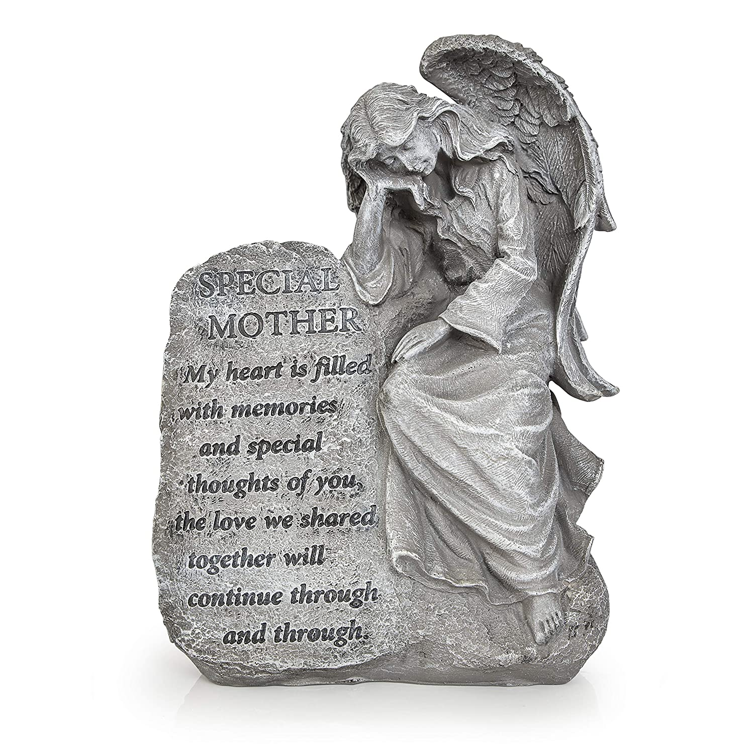 Besti Garden Memorial Stone Angels – Special Mother Stone Angel with Inspirational Quote