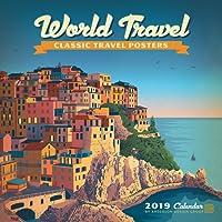 World Travel Classic Posters 2019 Wall Calendar