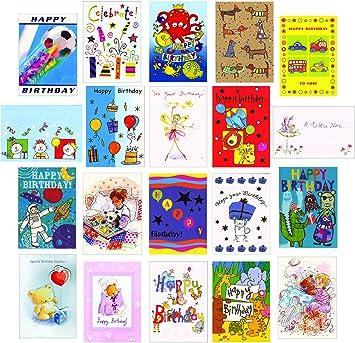 Kids super value mixed pack 20 childrens birthday greeting cards kids super value mixed pack 20 childrens birthday greeting cards m4hsunfo