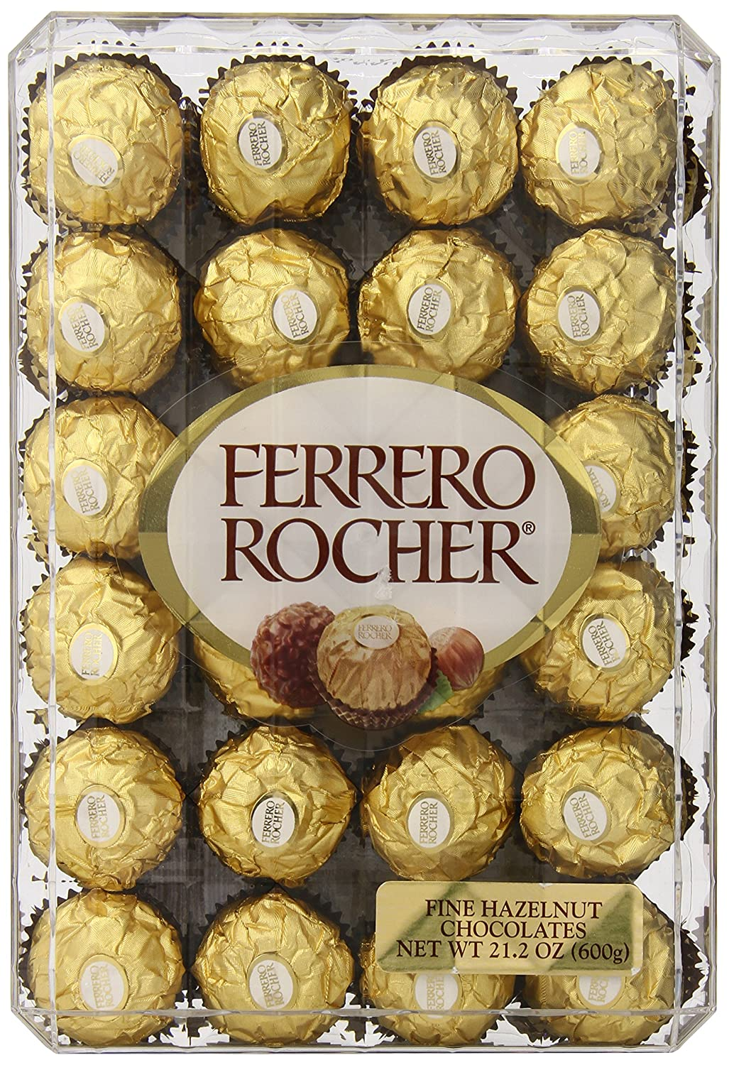 Amazon.com : Ferrero Rocher, Hazlenut, 48 Count, 21.2oz : Gourmet ...