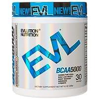 Evlution Nutrition BCAA5000 Powder (30 Servings, Furious Grape) 5 Grams of Premium BCAAs