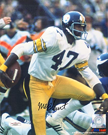 be1829496 ... cheapest mel blount autographed steelers 8x10 photo white jersey w jsa  coa 25104 a29ff