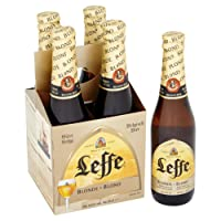 Leffe Blonde Beer Bottle, 4 x 330ml
