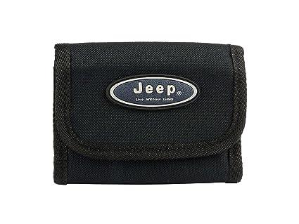 Jeep - Cartera deportiva de lona para hombre o niño, plegable en tres