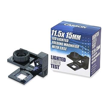 Carson LinenTest Lupa Cuentahílos Enfocable con Luz LED y Lente de 15mm con  Aumento de 11.5x  Amazon.es  Electrónica 8835edfda5