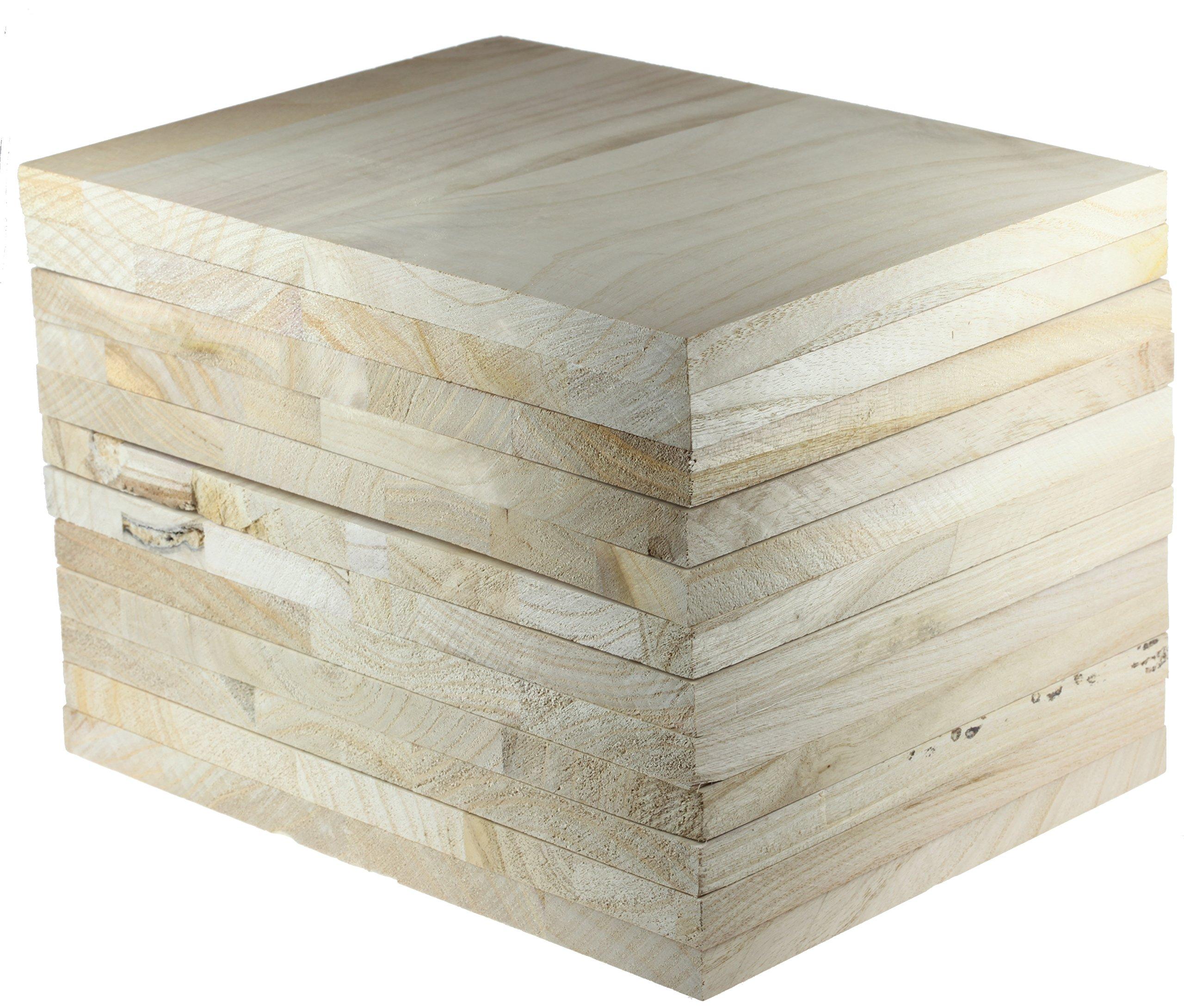 Tiger Claw Wood Breaking Board - Breakable Board in 18 mm Thickness (12 Board Pack)