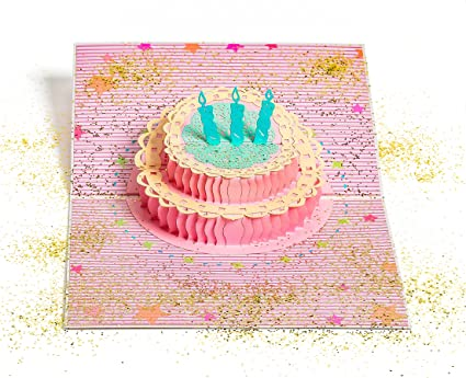 Amazon Glitter Bomb Pop Up Birthday Card Office Products