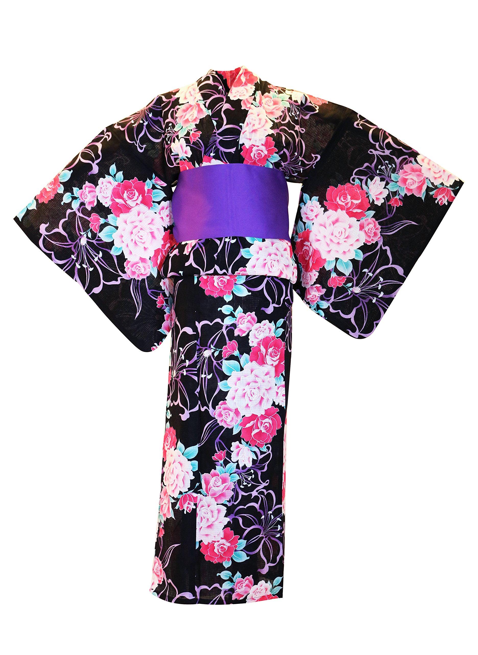 "Japanese 110/""L Vintage COTTON Kimono Yukata Wide Obi Belt WHITE Made in Japan"