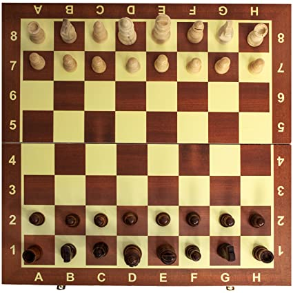 Classic Wooden Chess Set Board U2013 Folding Boards With Storage Bags And  Genuine Intricately Carved Wood