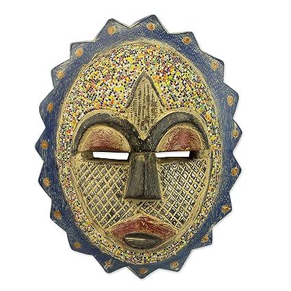 da8e3bfb3265 Amazon.com: NOVICA Decorative Aluminum Glass Cultural Mask ...
