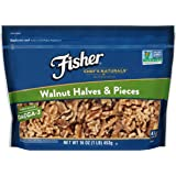 FISHER Chef's Naturals Walnut Halves & Pieces, 16 Ounce