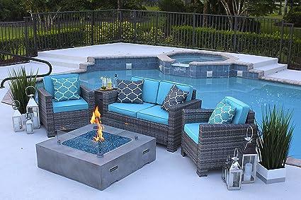 Amazon Com Akoya Outdoor Essentials 4 Piece 42 X 42 Square Modern