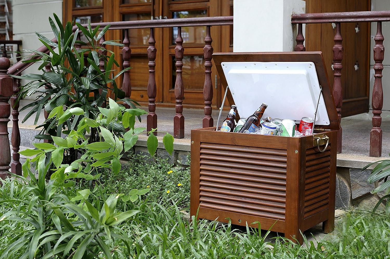 amazon com merry garden mpg pc01 wooden patio cooler wood ice