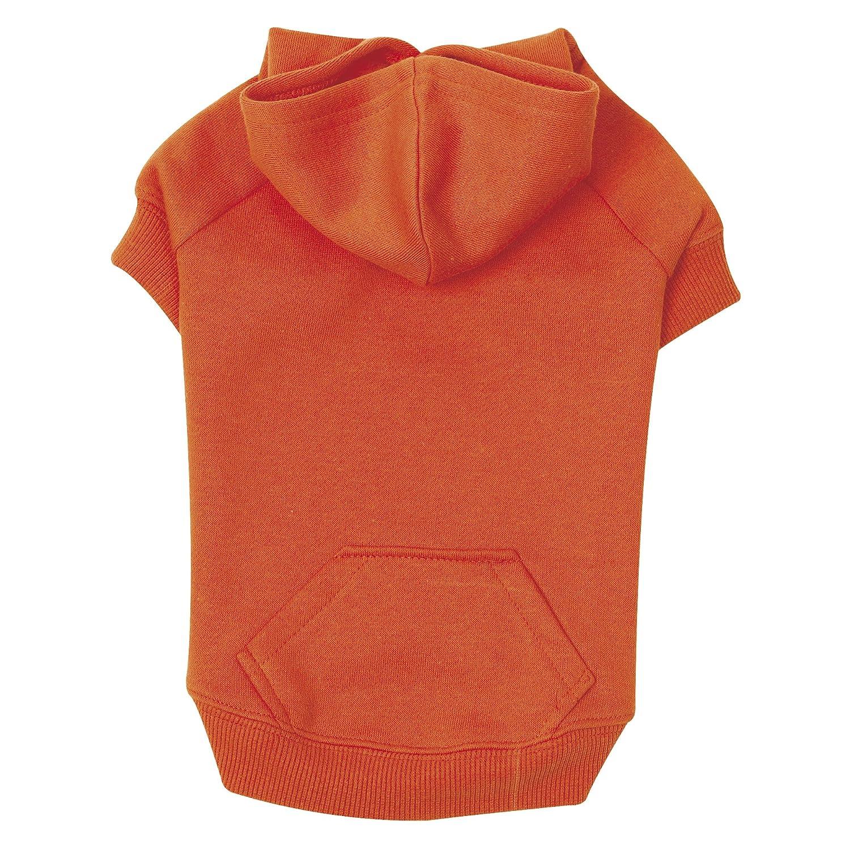 Large Zack & Zoey Polyester Cotton Basic Dog Hoodie, Large, 20-Inch, Vibrant orange