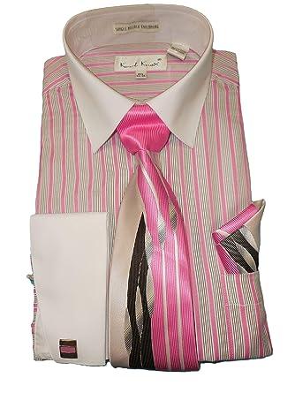 Karl Knox SX4358 - Camisa de Vestir para Hombre, Color Rosa y ...