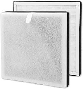 High Efficiency 3-in-1 True HEPA Air Purifier Filter Compatible with Pure Enrichment PureZone Replacement Part # PEAIRFIL (2 Pack)