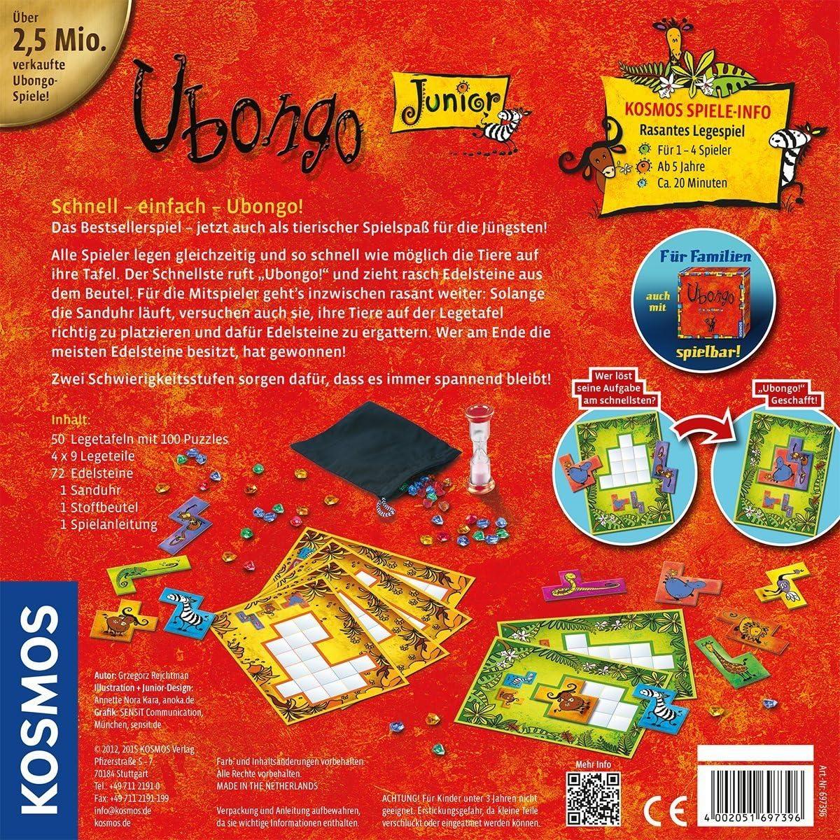 Uvongo junior Ubongo junior [de las mercancias de importacioen paralela]: Amazon.es: Juguetes y juegos