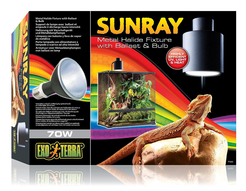 Exo Terra SunRay Lampenhalterung mit Vorschaltgerät und Metalldampflampe 70W