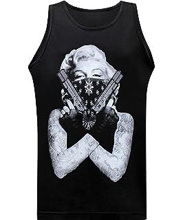 California Republic Marilyn Gangster Mens Muscle Tee Tank Top T-Shirt