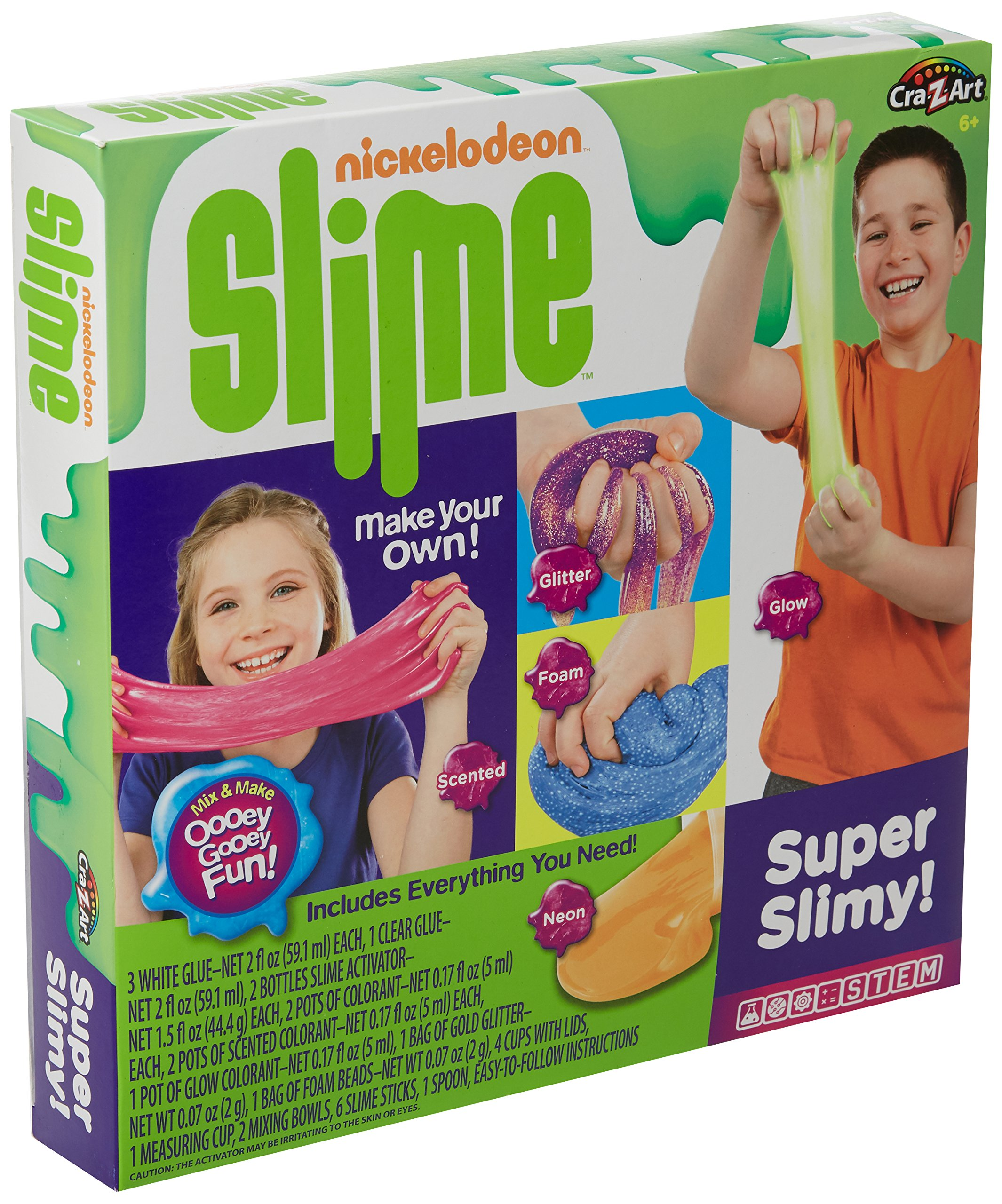 Nickelodeon Set Super Slimy (28 Piece), Multicolored