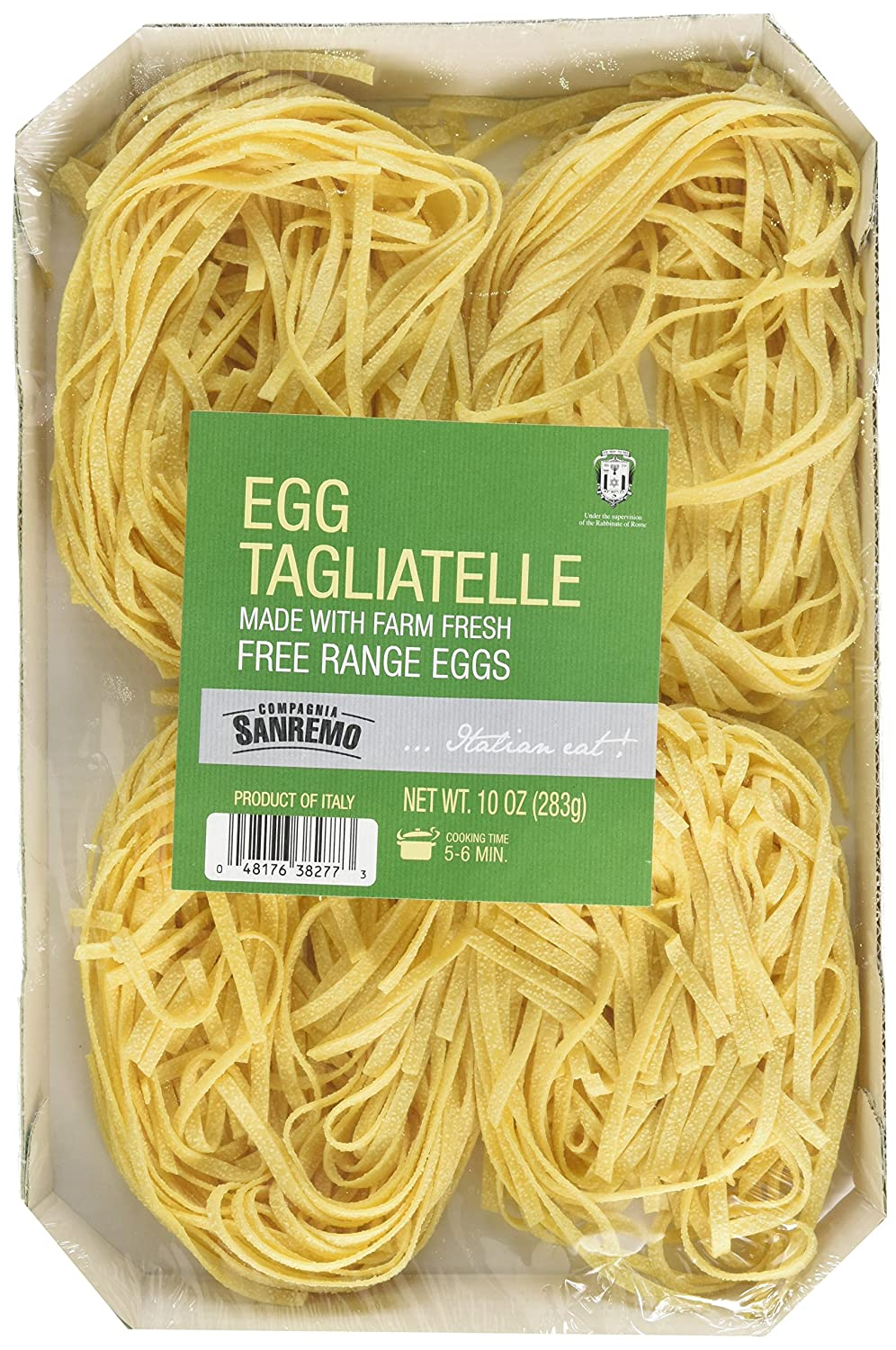 Amazon.com : Sanremo Egg Pasta, Tagliatelle, 10 Ounce : Grocery & Gourmet Food