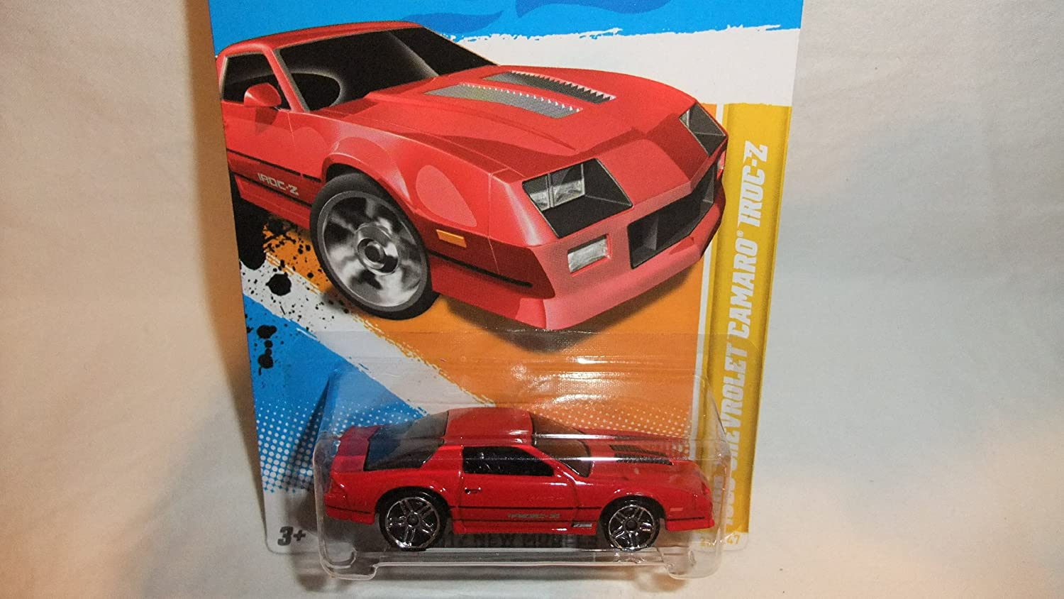 Hot Wheels 2012-022 New Models 1985 Chevrolet Camaro Iroc-Z Red 1:64 Scale Mattel