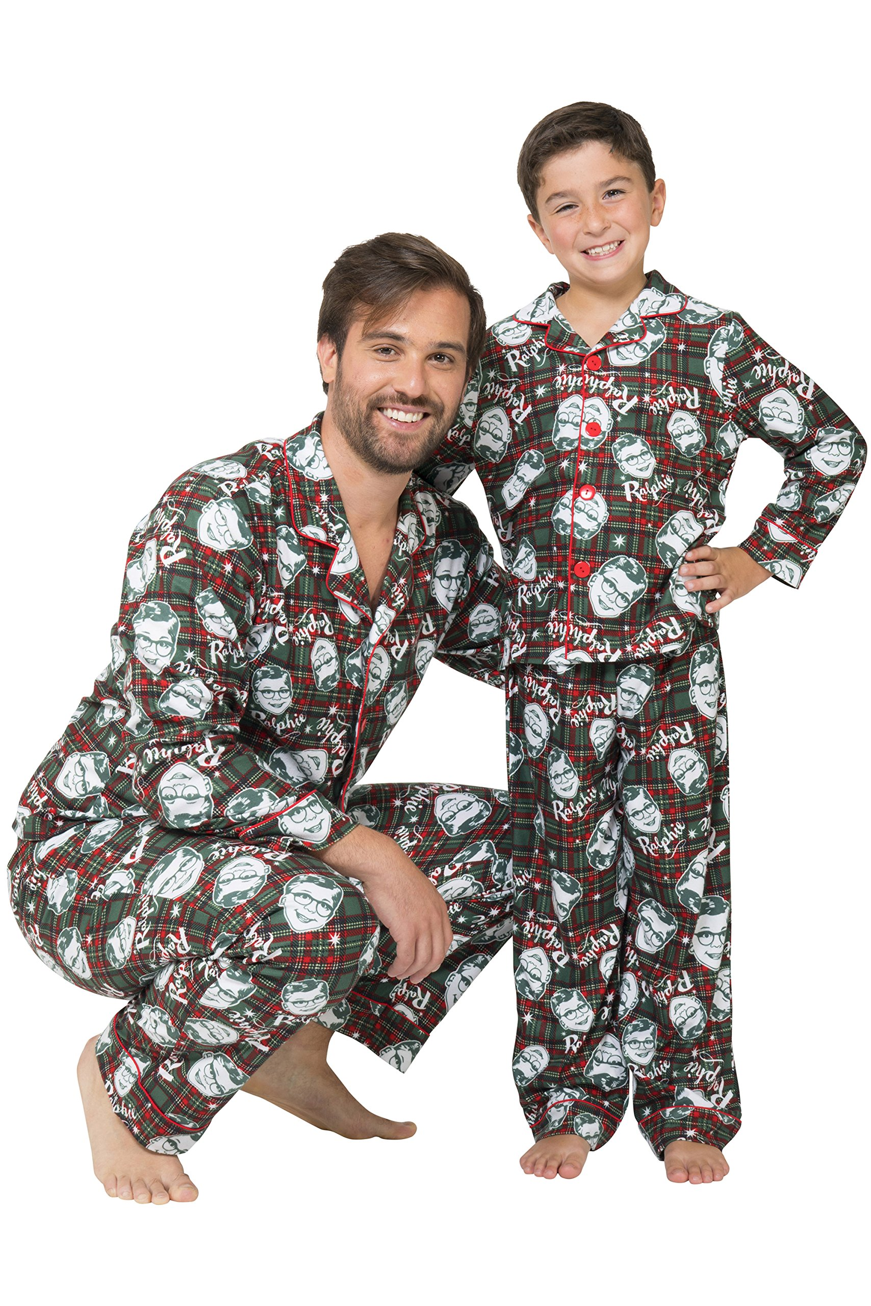 Christmas Story Men's Ralphie Coat Front Pajama Set, Multi, M by A Christmas Story (Image #1)