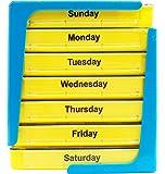 PuTwo Pillole Organizzatore per 7 giorni di dispensatore pillola organizzatore pillola settimanale con 4 vani - giallo