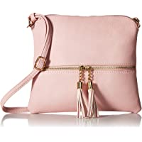 e4329ab3258b Lightweight Medium Crossbody Bag with Tassel