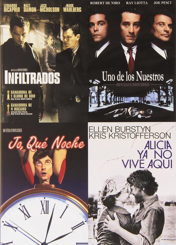 Pack: Infiltrados + Uno De Los Nuestros + Alicia Ya No Vive Aquí + ¡Jo, Qué Noche! DVD: Amazon.es: Leonardo DiCaprio, Robert De Niro, Mia Bendixsen, Griffin Dunne, Matt Damon, Ellen Burstyn,