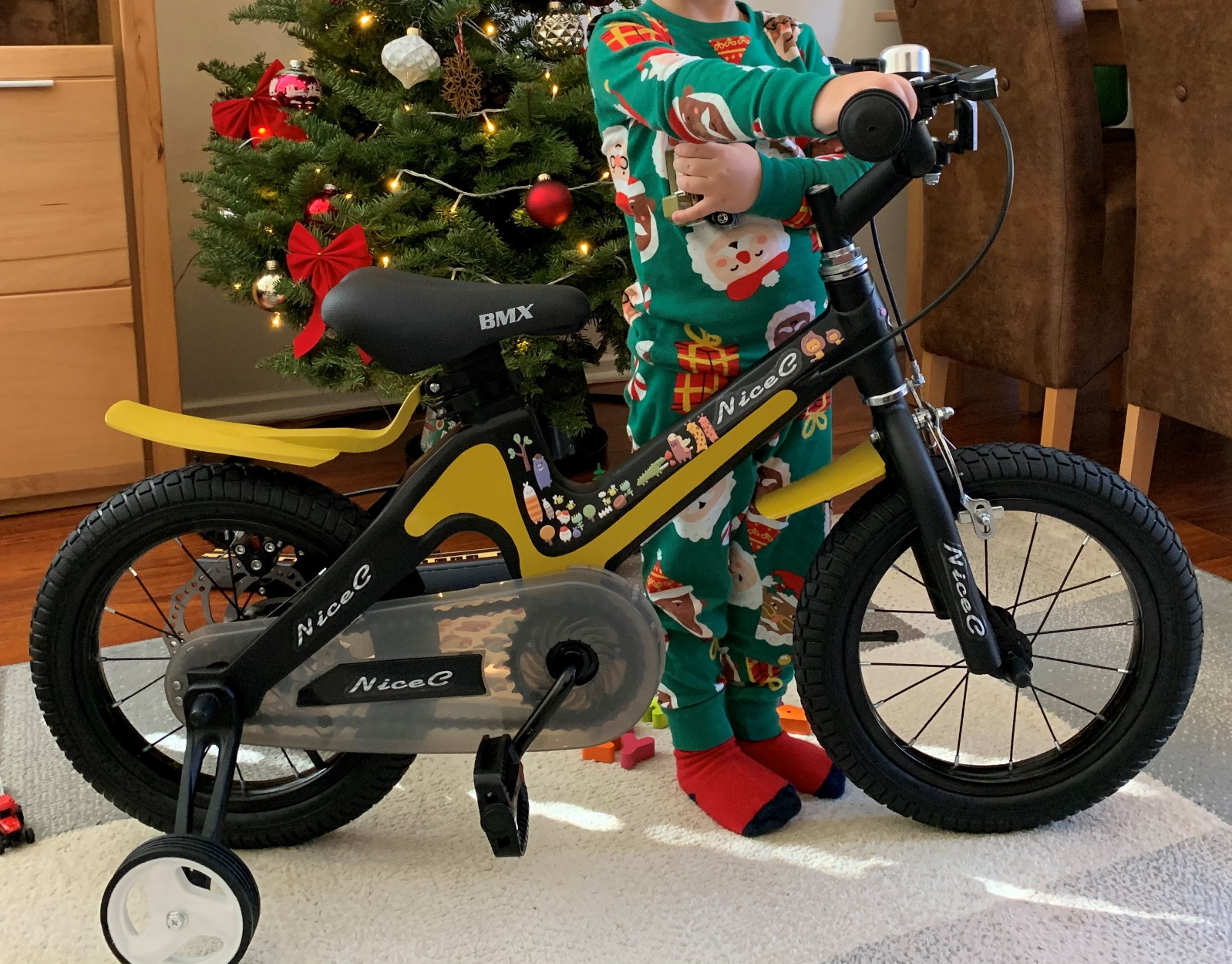 NiceC BMX Kids Bike with Dual Disc Brake for Boy and Girl 12-14-16-18 inch Training Wheels photo review