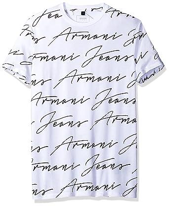 ef216fce4a39 Amazon.com  ARMANI JEANS Men s Slim Fit Pima Cotton Handwritten ...