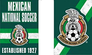 WinCraft Mexico National Soccer Team Garden Flag, Vintage Distressed Edition, 12.5x18 inches, 2 Sided