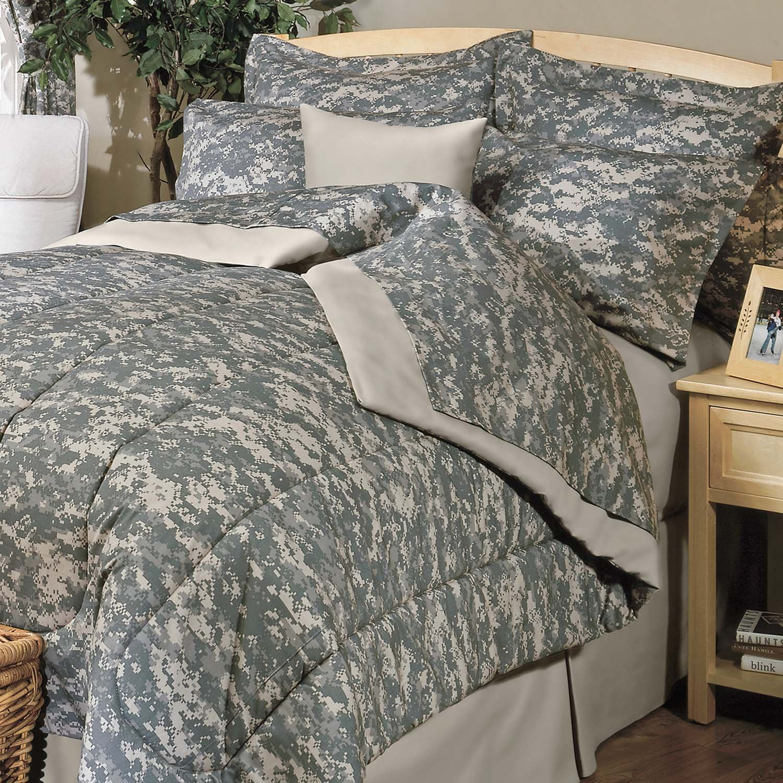 Amazon Digital Camouflage Green Queen Sheet Set Home & Kitchen