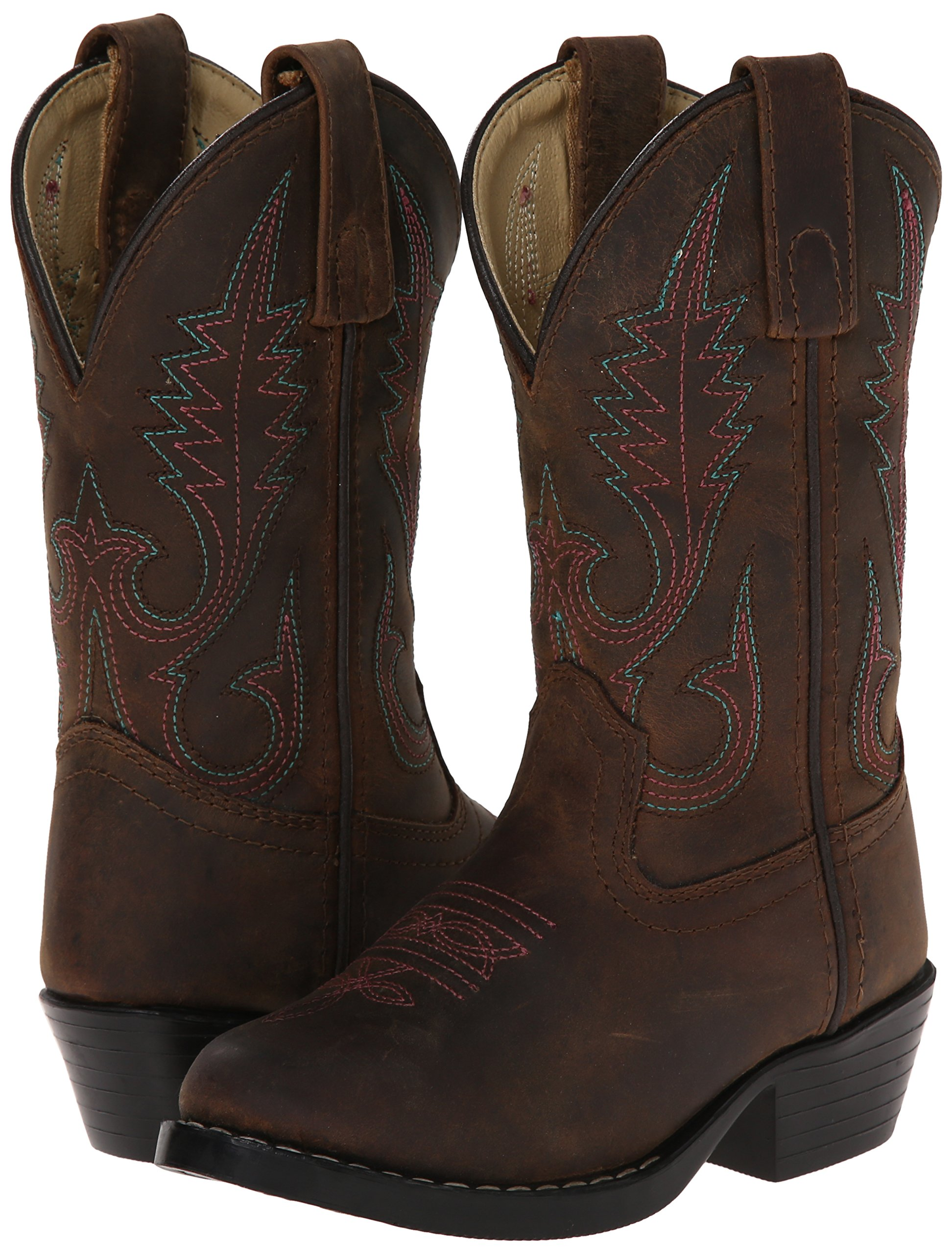 Smoky Mountain Annie Western Boot Round Toe, Brown, 5.5 by Smoky Mountain Boots