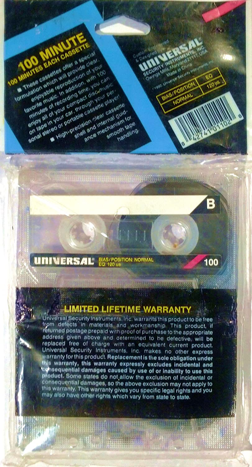 Amazon.com: 100 Minute Audio Cassettes [Type 1, Bias/Position Normal EQ 120us], 2 pack: Home Audio & Theater