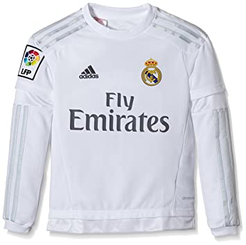 adidas Real Madrid Home Long Sleeve Camiseta, Niños: Amazon.es: Zapatos y complementos